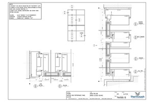 CAD Download - PW1000 - 200mm Mullion Double Glazed Seismic