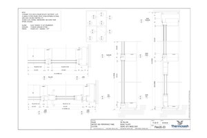 CAD Download - PW400 150mm  Double Glazed Seismic with Hinged Door