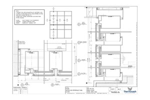 CAD Download - PW1000 - 160mm Mullion Double Glazed Seismic
