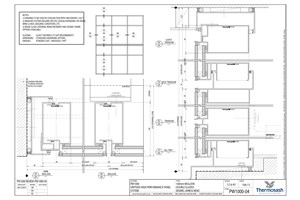 CAD Download - PW1000 - 160mm Mullion Double Glazed Seismic Jamb & Head