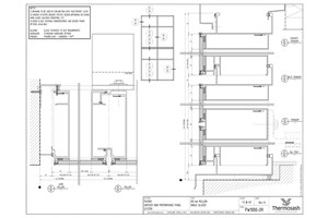 CAD Download - PW1000 - 200mm Mullion Single Glazed