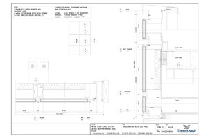 CAD Download - PW1000 - Shadowbox Detail on Double Glazed Panel