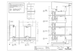 CAD Download - PW400 - 150mm Mullion Double Glazed