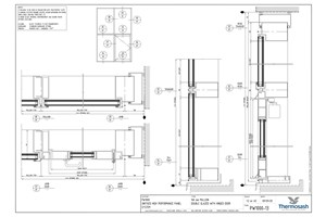 CAD Download - PW1000 - 160mm Mullion Double Glazed with Hinged Door