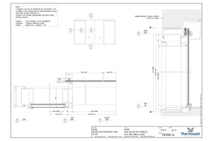 CAD Download - PW1000 - 160mm Mullion Seismic with Frameless Glass Auto Door (Single Glazed)