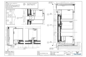 CAD Download - TB160 - PW1000 160mm Mullion Seismic Thermally Broken Double Glazed