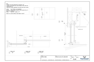 CAD Download - Channel Glazing System - Frameless Glass Auto Sliding Door