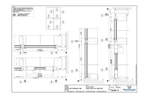 CAD Download - PW1000 160mm Double Glazed with Hinged Door