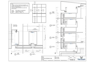 CAD Download - PW1000 - 160mm Mullion Double Glazed