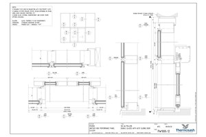 CAD Download - PW1000 - 160mm Mullion Double Glazed with Auto Slider