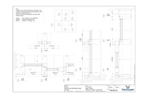 CAD Download - PW400 150mm Double Glazed Seismic with Manual Slider
