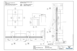 CAD Download - PW1000 - 160mm Mullion Double Glazed with Sash (Manual Actuator)