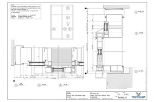 CAD Download - PW1000 - 160mm Mullion Double Glazed with Manual Single Slider