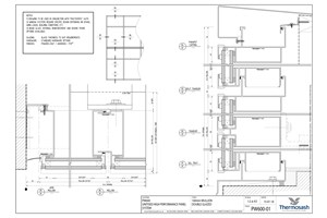 CAD Download - PW600 - 160mm Mullion Double Glazed