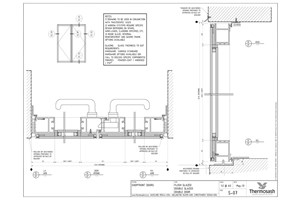 CAD Download - SF100 Double Door - Flush Double Glazed