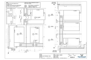 CAD Download - TB200 - PW1000 200mm Mullion Seismic Thermally Broken Double Glazed